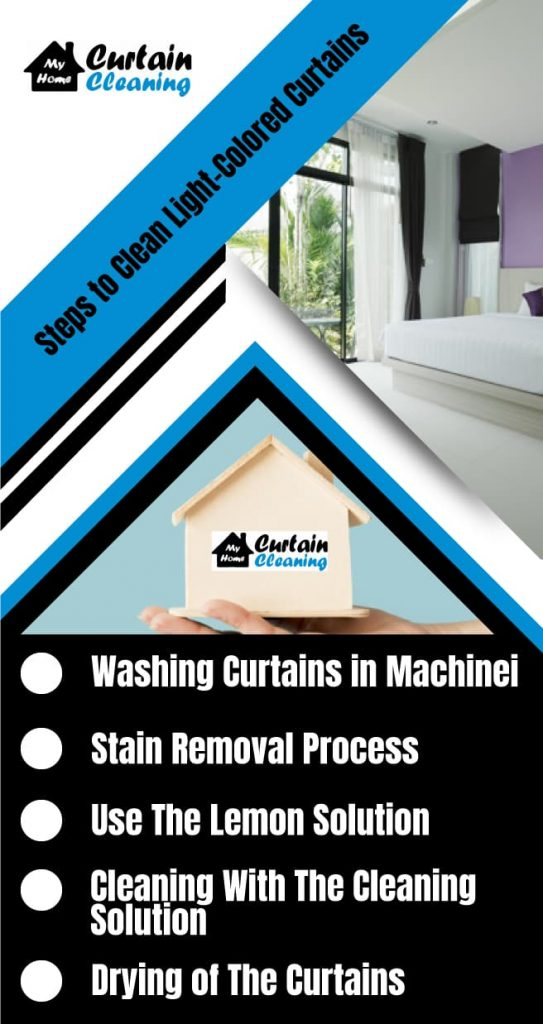 Steps To Clean Light Colored Curtains